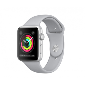 Apple WATCH Series 3, 38mm Silver Aluminium Case with Fog Sport Band (MQKU2) - ТвойGadget