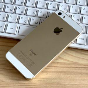 Apple iPhone SE 16 GB Gold (MLXM2) ; состояние – А - ТвойGadget