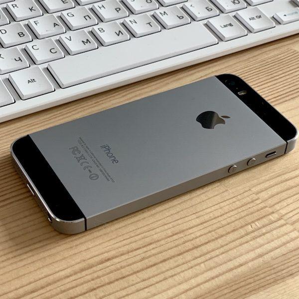 Apple iPhone 5s 16 GB Space Gray Б/У состояние – А - ТвойGadget