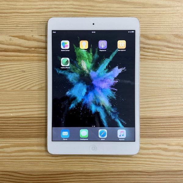 Apple iPad mini 64 GB WI-FI+LTE Silver; (б/у) - ТвойGadget