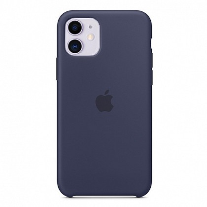 Чехол iPhone 11 Silicone Case Midnight Blue - ТвойGadget
