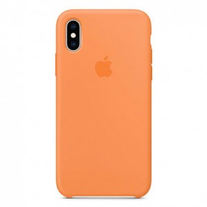 Чехол iPhone XS Silicone Case Papaya - ТвойGadget