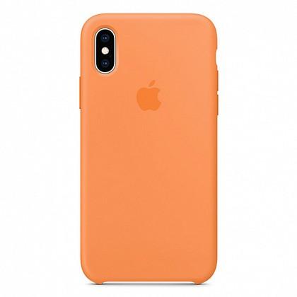 Чехол iPhone XS Silicone Case Papaya - ТвойGadget