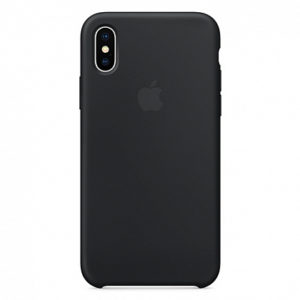 Чехол iPhone X Silicone Case Black - ТвойGadget