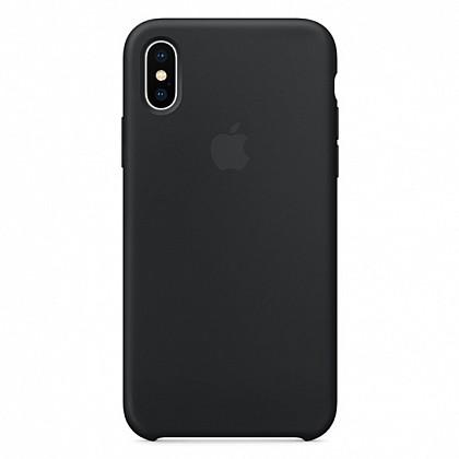 Чехол iPhone XS Silicone Case Black - ТвойGadget