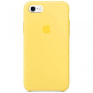 Чехол iPhone SE Silicone Case Canary Yellow - ТвойGadget