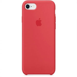 Чехол iPhone SE Silicone Case Red Raspberry - ТвойGadget