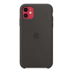 Чехол iPhone 11 Silicone Case Black - ТвойGadget