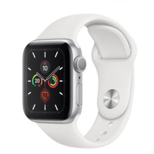 Apple WATCH Series 5 40mm Silver GPS Aluminium Case with White Sport Band (MWV62) - ТвойGadget