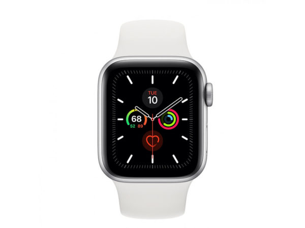 Apple Watch Series 5 GPS 44mm Silver Aluminum Case with White Sport Band (MWVD2) - ТвойGadget