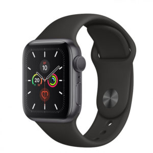 Apple Watch Series 5 GPS 44mm Space Gray Aluminum Case with Black Sport Band (MWVF2) - ТвойGadget