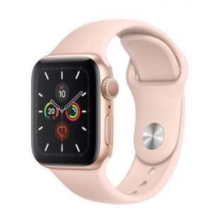Apple WATCH Series 5 44mm Gold GPS Aluminium Case with Pink Sand Sport Band (MWVE2) - ТвойGadget