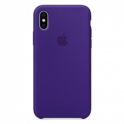 Чехол iPhone X Silicone Case Ultra Violet - ТвойGadget
