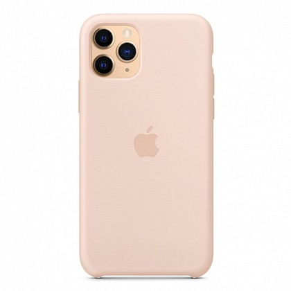 Чехол iPhone 11 Pro Max Silicone Case Pink Sand - ТвойGadget