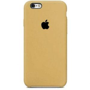Чехол iPhone SE Silicone Case Gold - ТвойGadget