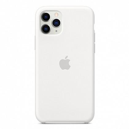 Чехол iPhone 11 Pro Max Silicone Case White - ТвойGadget