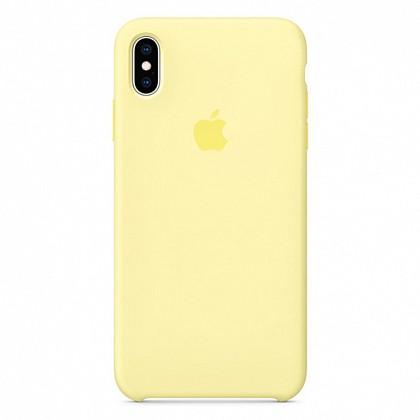 Чехол iPhone XS Silicone Case Mellow Yellow - ТвойGadget
