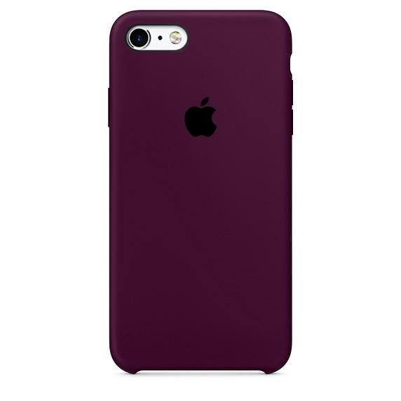 Чехол iPhone SE Silicone Case Marsala - ТвойGadget