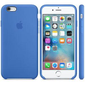 Чехол iPhone 6s Silicone Case Blue - ТвойGadget