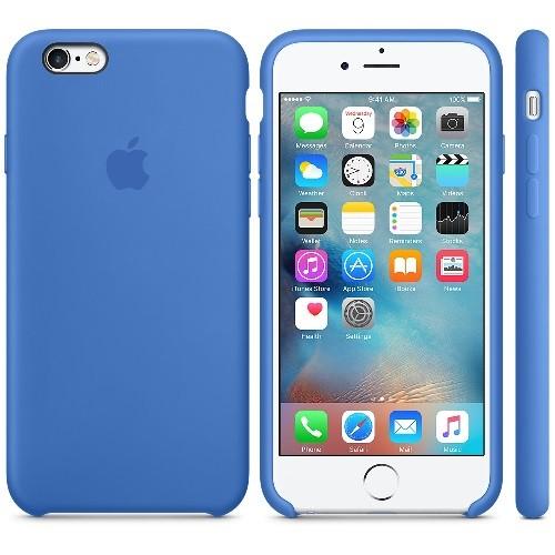Чехол iPhone 6s Plus Silicone Case Blue - ТвойGadget