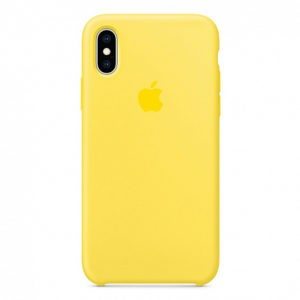 Чехол iPhone XS Silicone Case Canary Yellow - ТвойGadget