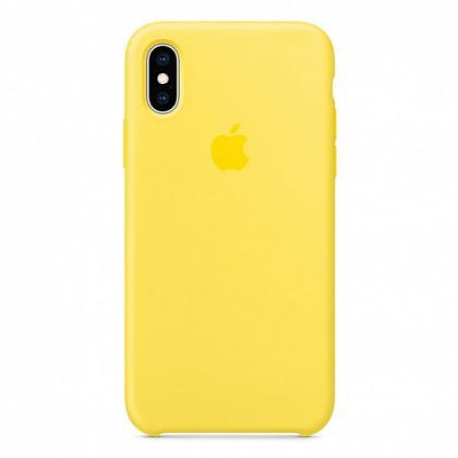 Чехол iPhone XS Max Silicone Case Canary Yellow - ТвойGadget