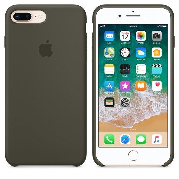 Чехол iPhone 8/7 Plus Silicone Case Dark Olive - ТвойGadget
