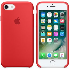 Чехол iPhone 8/7 Silicone Case Red - ТвойGadget