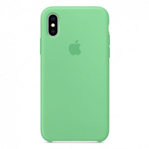 Чехол iPhone XS Silicone Case Spearmint - ТвойGadget