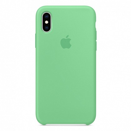 Чехол iPhone XS Max Silicone Case Spearmint - ТвойGadget
