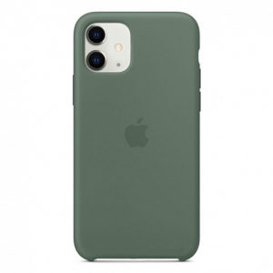 Чехол iPhone 11 Silicone Case Pine Green - ТвойGadget