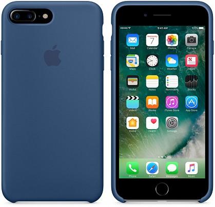 Чехол iPhone 8/7 Plus Silicone Case Ocean Blue - ТвойGadget