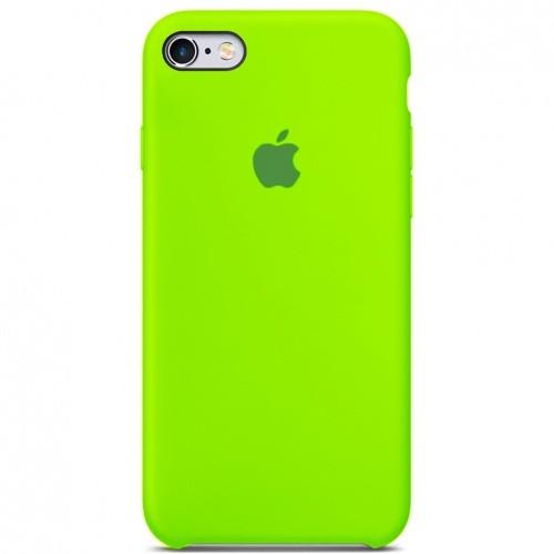 Чехол iPhone SE Silicone Case lime Green - ТвойGadget