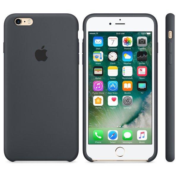 Чехол iPhone 6s Plus Silicone Case Charcoal Gray - ТвойGadget