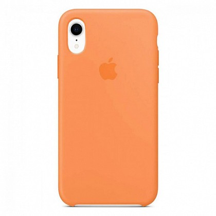 Чехол iPhone XR Silicone Case Papaya - ТвойGadget