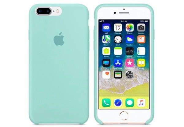 Чехол iPhone 8/7 Plus Silicone Case Marine Green - ТвойGadget