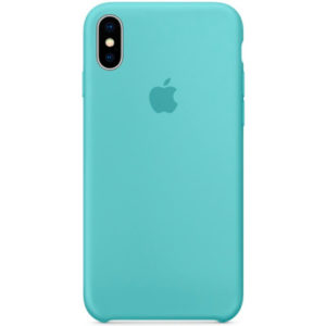 Чехол iPhone X Silicone Case Marine Green - ТвойGadget
