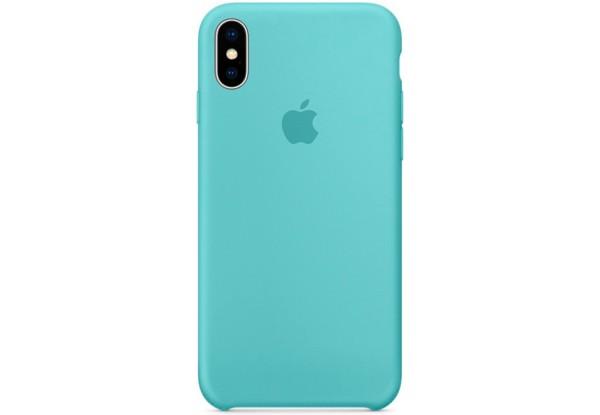 Чехол iPhone X Silicone Case Marine Green - ТвойGadget