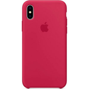 Чехол iPhone X Silicone Case Rose Red - ТвойGadget