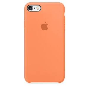 Чехол iPhone SE Silicone Case Papaya - ТвойGadget
