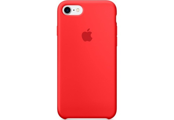 Чехол iPhone SE Silicone Case Red - ТвойGadget