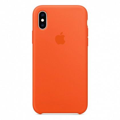 Чехол iPhone XS Max Silicone Case Nectarine - ТвойGadget
