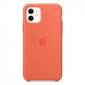 Чехол iPhone 11 Silicone Case (Orange) Clementine - ТвойGadget