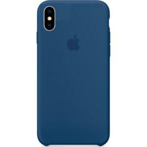 Чехол iPhone X Silicone Case Blue Cobalt - ТвойGadget