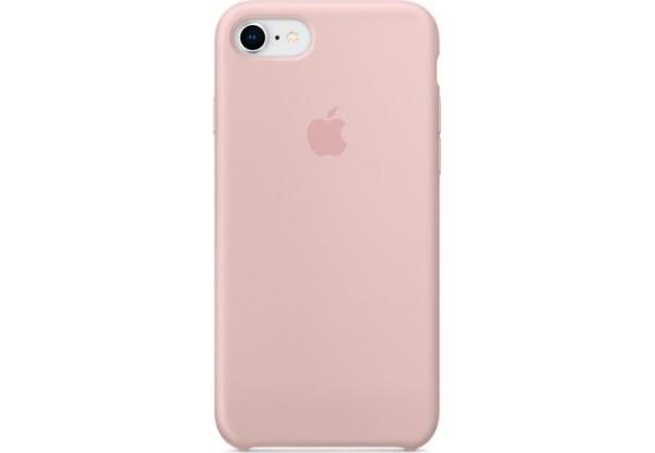Чехол iPhone SE Silicone Case Pink - ТвойGadget