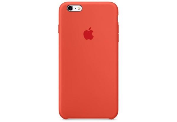 Чехол iPhone SE Silicone Case Orange - ТвойGadget