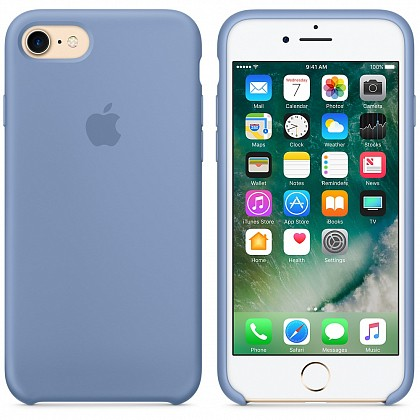 Чехол iPhone 8/7 Silicone Case Denim Blue - ТвойGadget