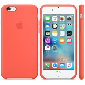 Чехол iPhone 6s Silicone Case New Apricot - ТвойGadget