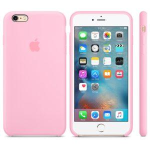 Чехол iPhone 6s Plus Silicone Case light pink - ТвойGadget