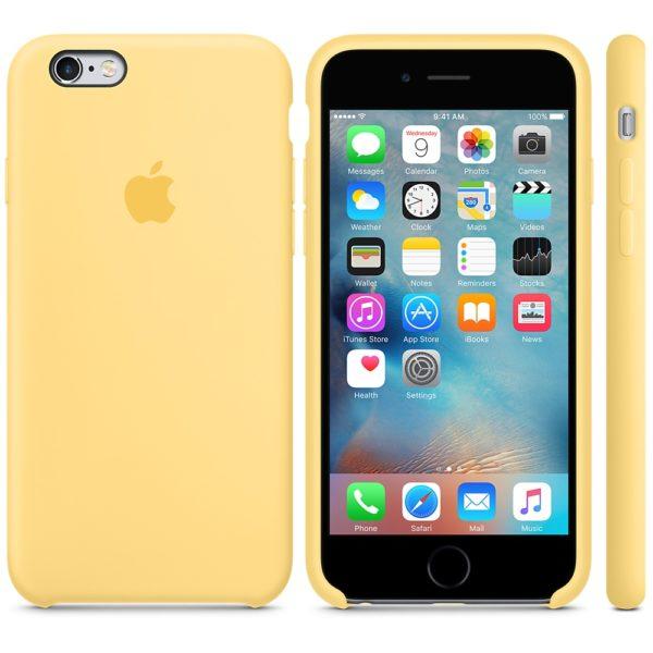 Чехол iPhone 6s Plus Silicone Case Yellow - ТвойGadget